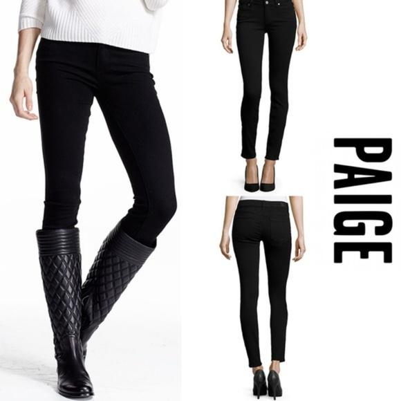 Anthropologie Denim - Anthropologie Paige Black Skinny Jeans 25